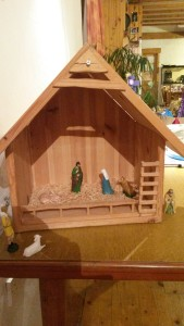 The Crib, awaiting the birth of Jesus